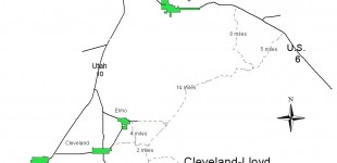 Cleveland/Lloyd Dinosaur Quarry Map